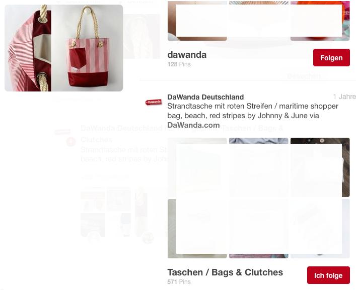 Unsere Strandtasche gepinnt von DaWanda Deutschland auf Pinterest