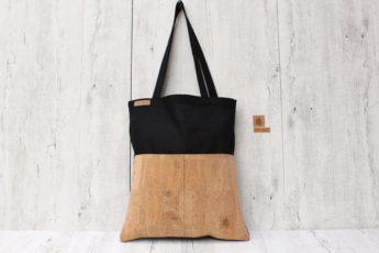 Shopper KORK schwarz sand