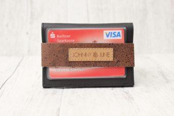 Portemonnaie Kork schwarz braun