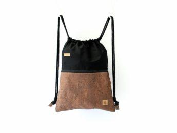 Rucksack Kork schwarz braun