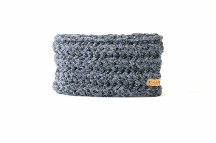 Stirnband jeansblau