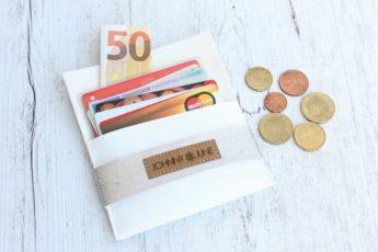 Geldbörse Kork weiß silber