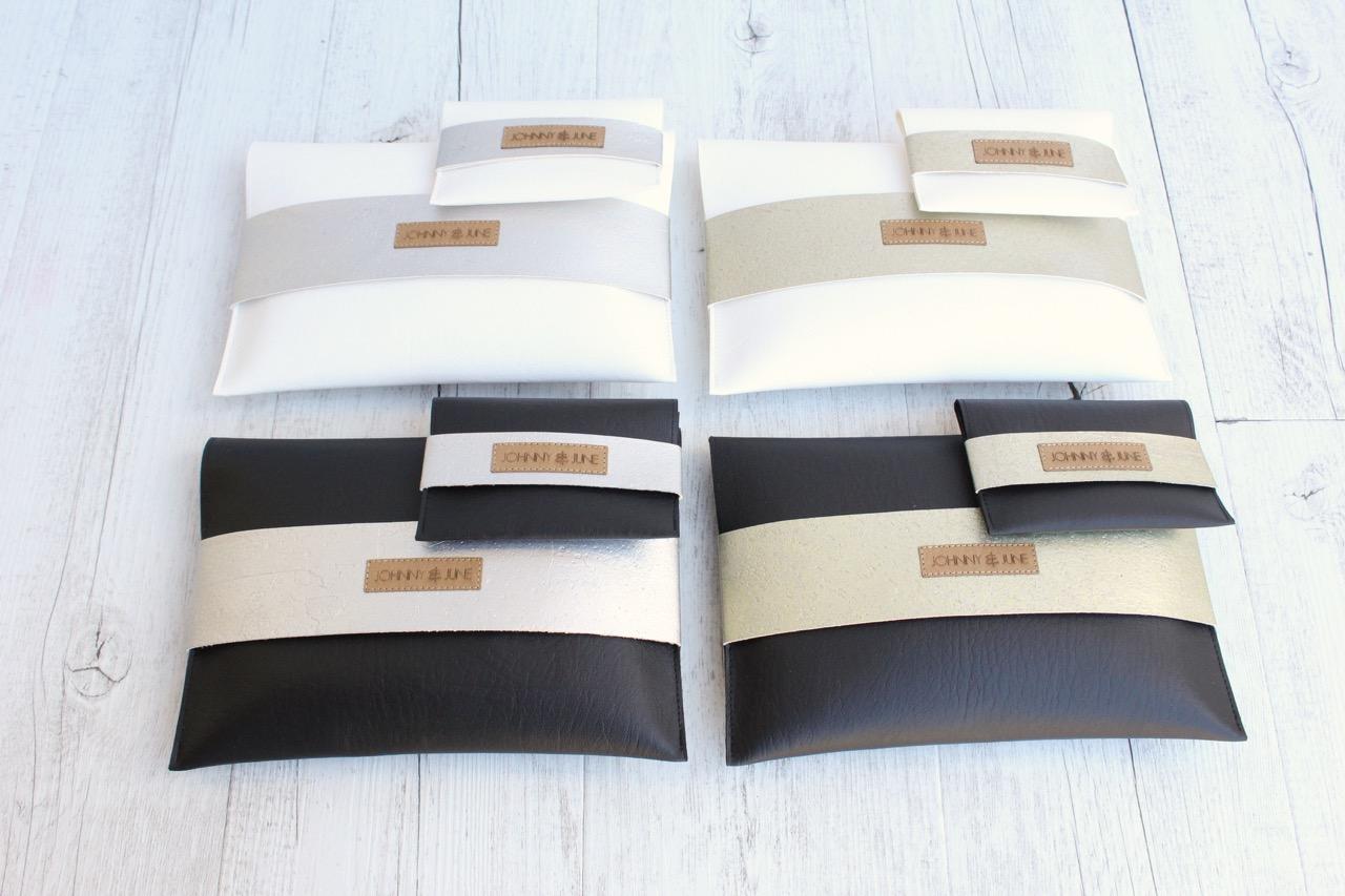 clutch kork wei champagner johnny june. Black Bedroom Furniture Sets. Home Design Ideas
