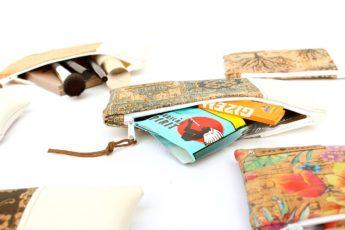 Handyhülle aus Kunstleder in weiss und Korkleder in portugues