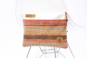 Umhängetasche weiß colored stripes