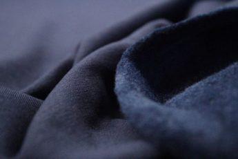 Jersey Stoff SWEAT blau