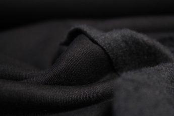 Jersey Stoff SWEAT schwarz