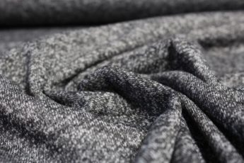 Jersey Stoff schwarzgrau meliert