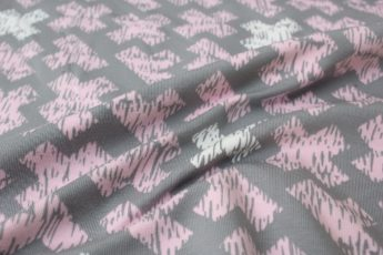 Jersey grau rosa OekoTex