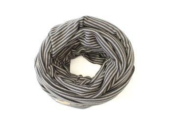 Loop schwarz grau gestreift