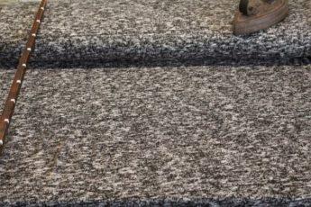 Strickjersey schwarz weiß meliert