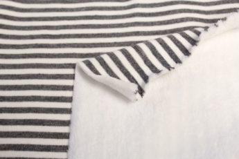 Sweatjersey gestreift grau weiß