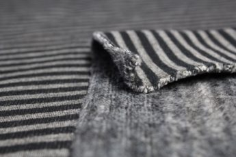 Sweatjersey gestreift schwarz grau