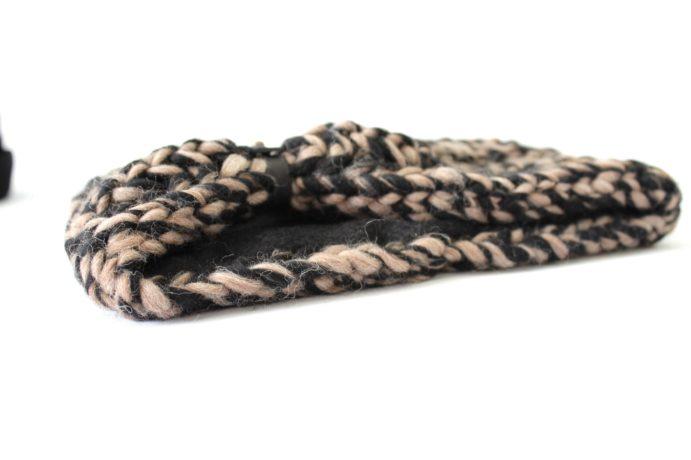 stirnband schwarz taupe