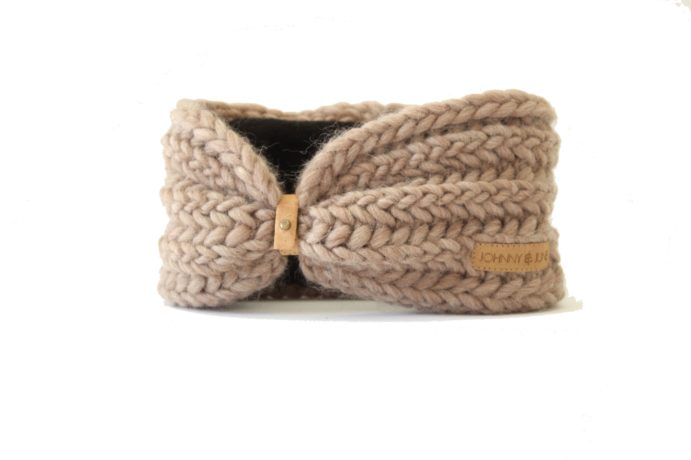 Stirnband taupe