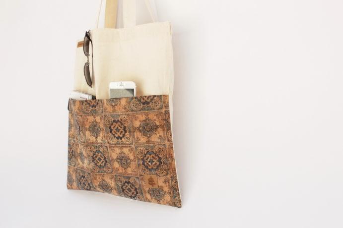 Shopper Bags Sand kariert