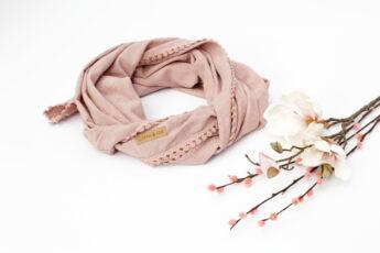 Tuch Schal rosa Blumen