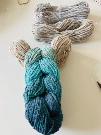 recycelt Baumwolle blau grau