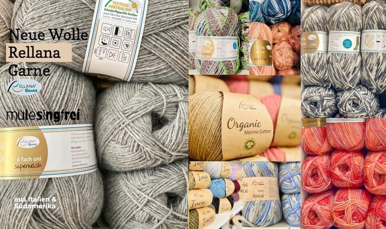 Stricken und Wolle